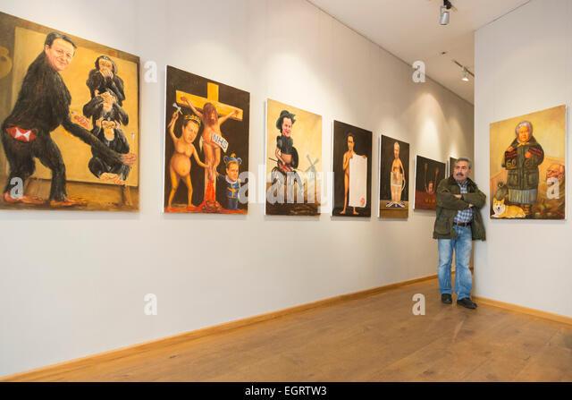 London, UK. 1. März 2015. Die Ausstellung Farbe & Politik des Künstlers Kaya Mar öffnet um Galerie Stockbild