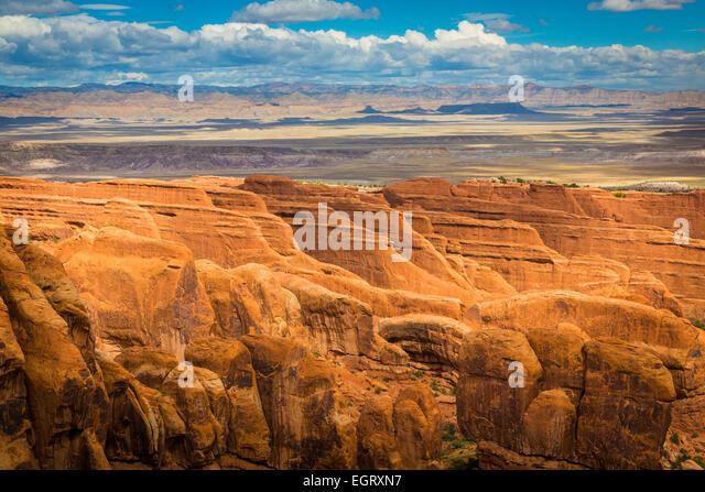 Arches-Nationalpark ist ein uns-Nationalpark im östlichen Utah. Stockbild