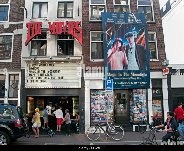 Die Filme ältesten Kino (Art-Deco-Interieur) in Amsterdam. Das Kino auf Haarlemmerdijk entstand aus Kino, Tavenu Stockbild