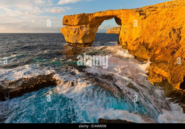 Malta, Insel Gozo, die natürlichen Bogen von Azure Window Stockbild