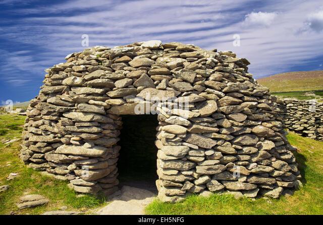 Bienenstock Hütte. Dingle Halbinsel, Irland Stockbild