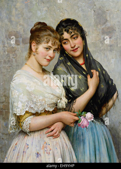 Eugene von Blaas venezianischen Schönheiten Stockbild