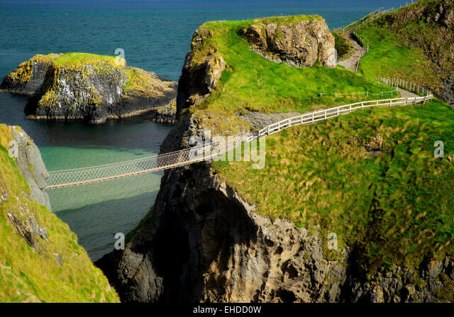 Carrick-a-Rede Rope Bridge. Nordirland Stockbild