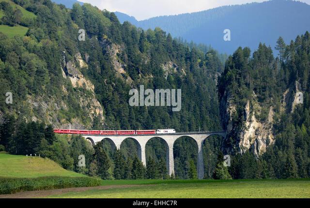 Landwasser-Viadukt Stockbild
