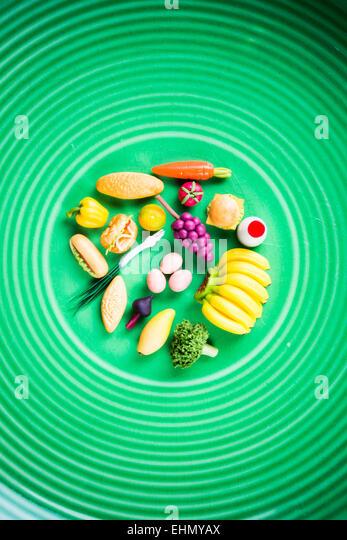 Konzeptbild von gesunden Lebensmitteln. Stockbild