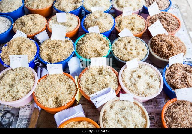 Reissorten, Indien. Stockbild