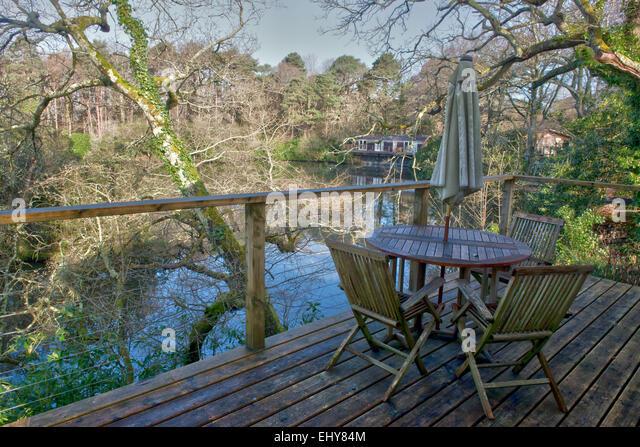 Indio-See-Lodges, Bovey Tracey, Devon, England, UK, GB Stockbild