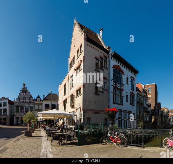 Niederlande, Holland, Europa, Dordrecht, Stile, Architektur, Stadt, Dorf, Sommer, Stockbild