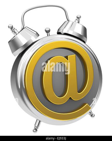 die e-Mail-Alarm clock Stockbild