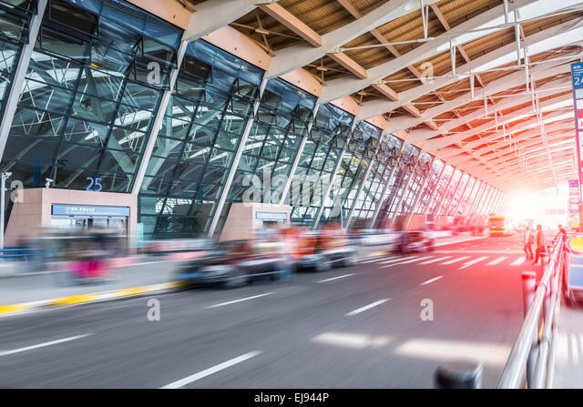 Shanghai Flughafen Ankunft