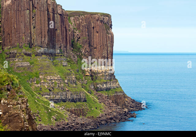 Kilt Rock auf der Isle Of Skye Stockbild