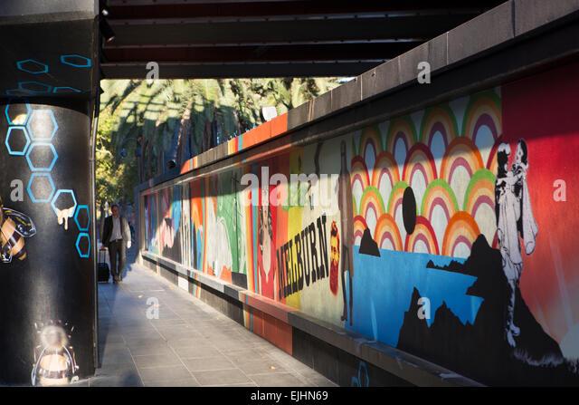 Street-Art, Melbourne, Australien Stockbild