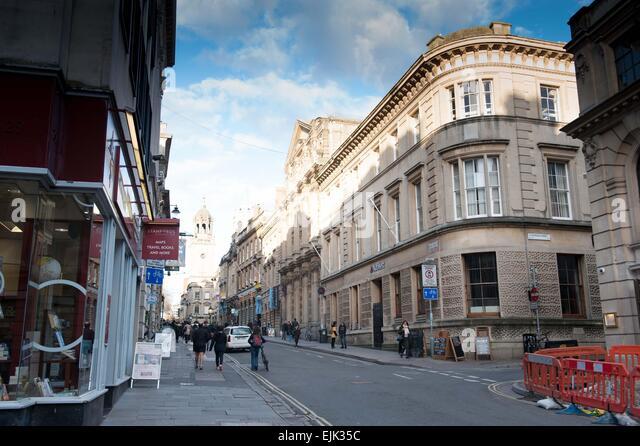 Bristol Straßenbild im Zentrum Stadt Stockbild
