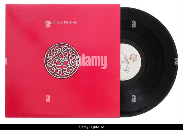King Crimson album Disziplin Stockbild