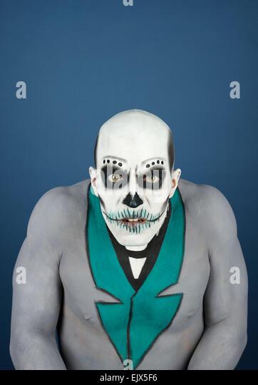 Dia de Los Muertos - der Tag der Toten, malte männlich Stockbild