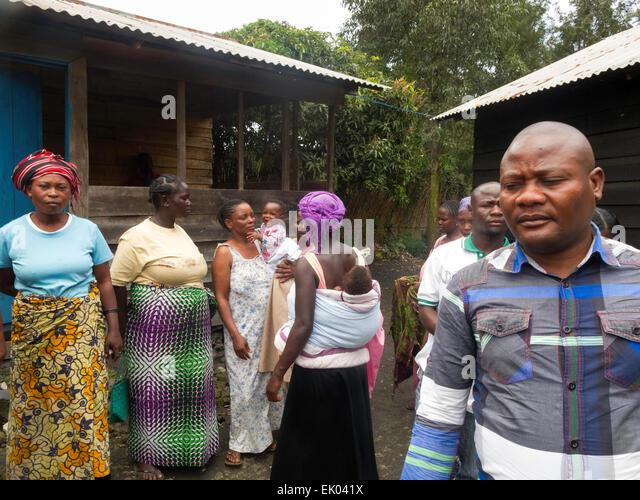 Erwachsenen kongolesischen Männer und Frauen, Goma, demokratische Republik Kongo (DRK), Afrika Stockbild