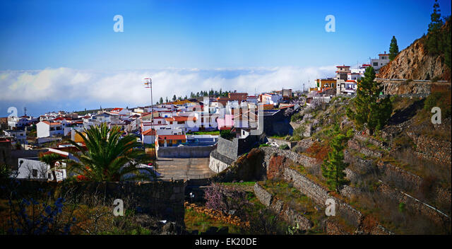 Spanien-Kanarische Inseln Teneriffa Vilaflor Skyline Wolke Stockbild