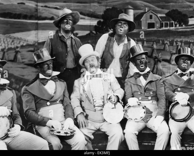 """Minnesänger Interpreten, die meisten in Blackface, Beginn des Films """"Sierra Passage"""", 1951 Stockbild"""