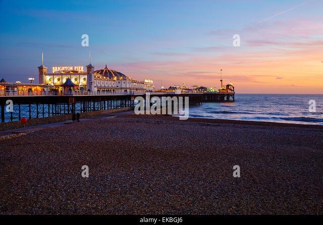 Pier von Brighton, Brighton, Sussex, England, Vereinigtes Königreich, Europa Stockbild