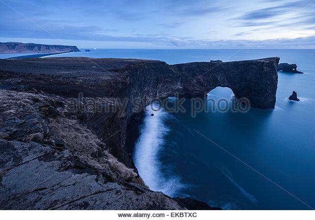 Kleinen Halbinsel Dyrhólaey, South Coast, Island Stockbild