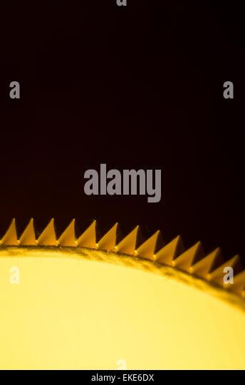Abstraktes Bild von einem leuchtenden Lampenschirm. Stockbild