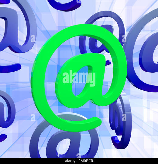 Mittel E-mail an Zeichen Symbol für Nachricht Stockbild