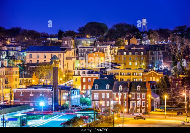 Richmond, Virginia, USA die Churchill-Nachbarschaft. Stockbild