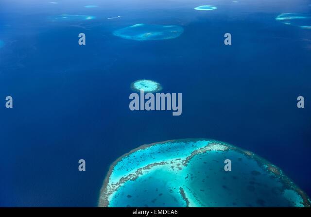 Malediven von oben Stockbild
