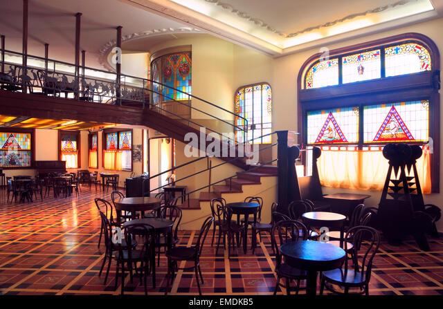 """Museo del Humor"" (Humor Museum) an Ex-Cerveceria München. Puerto Madero, Buenos Aires, Argentinien. Stockbild"