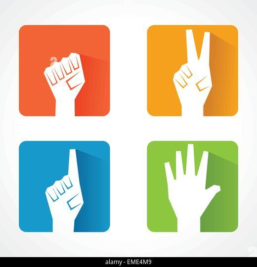 Andere Form von Hand Lager vetor Stockbild