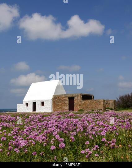 Das weiße Haus, Jersey, Kanalinseln, Großbritannien Stockbild