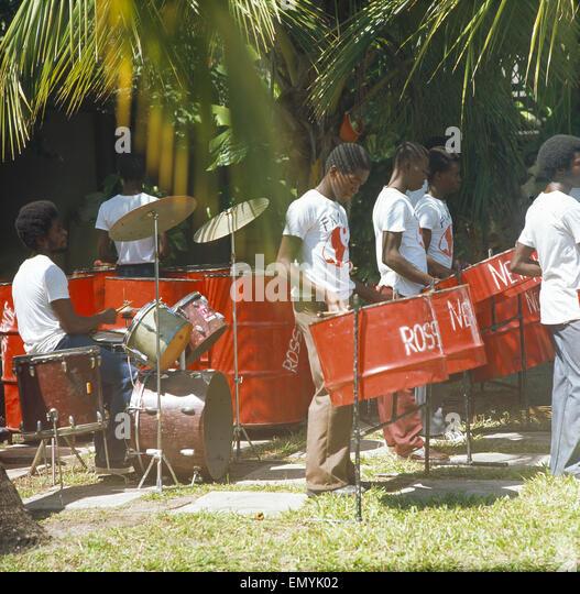 Karibik, kl Antillen, Stahlband Stockbild