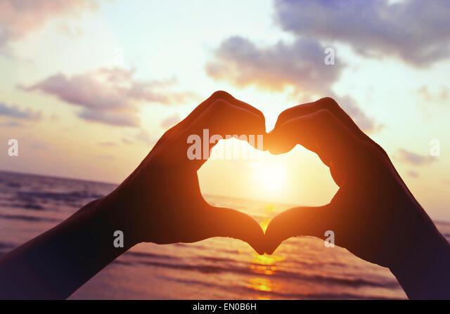 Liebe am Strand Stockbild