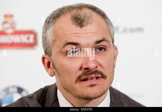 Mittwoch. 28. April 2015. Karlovy Vary International Film Festival künstlerischer Leiter Karel Och nimmt an Stockbild