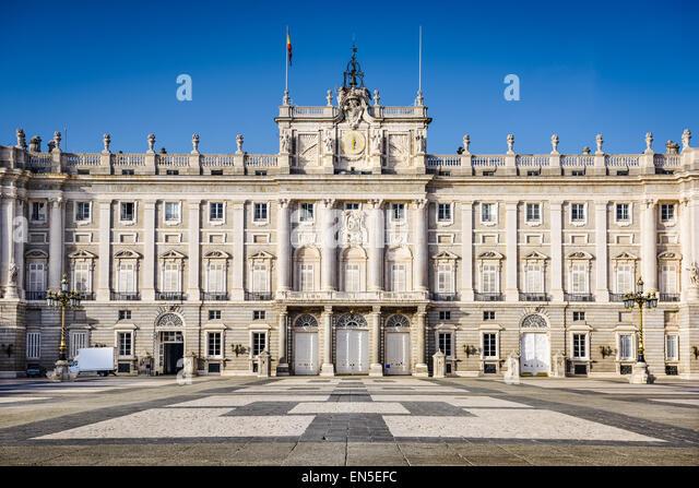 Madrid, Spanien bei den königlichen Palast-Innenhof. Stockbild