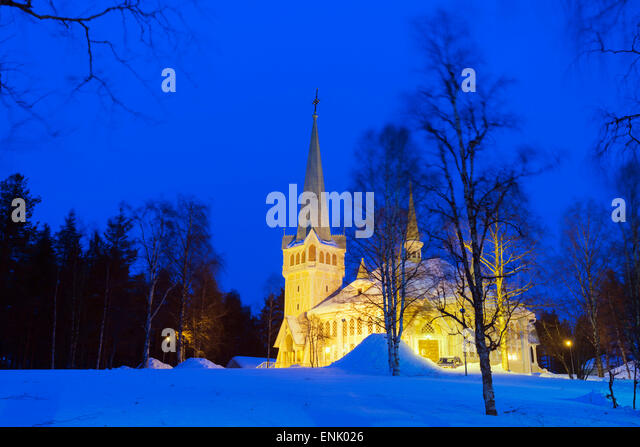 Ortsgemeinde, Jokkmokk, Lappland, Arctic Circle, Schweden, Skandinavien, Europa Stockbild