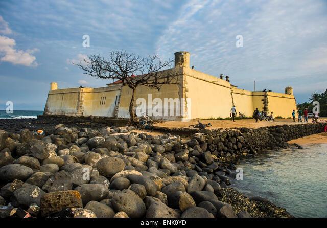 San Sebastian Fort, Stadt von São Tomé, Sao Tome und Principe, Atlantik, Afrika Stockbild