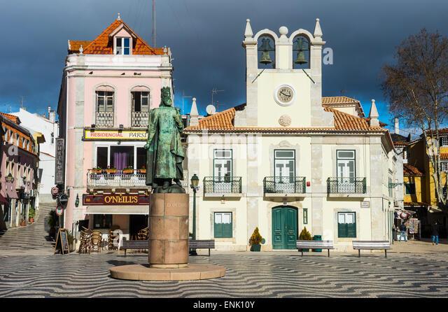 Direkt am Meer Passeio Dom Luis im Meer Stadt Cascais, Portugal, Europa Stockbild