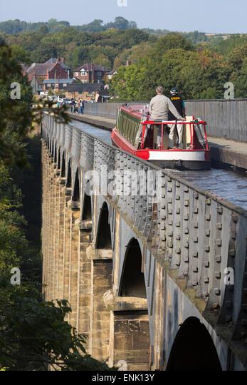 Pontcysyllte Aquädukt, 1795, 1805, UNESCO, und die Ellesmere Kanal, Llangollen, Denbighshire, Wales, UK Stockbild