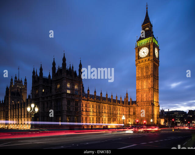 Big Ben, Houses of Parlament, UNESCO-Weltkulturerbe, Westminster, London, England, Vereinigtes Königreich, Stockbild
