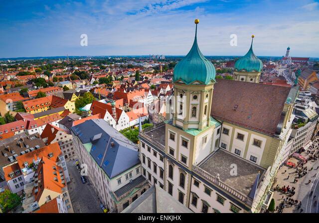 Augsburg, Deutschland, alte Stadt Stadtbild. Stockbild