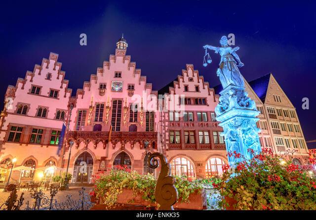 Frankfurt, deutsche alten Stadtplatz. Stockbild