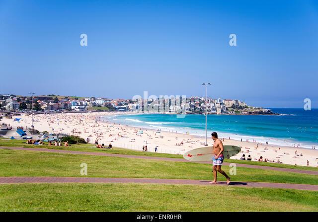 Nicht identifizierte Personen am Bondi Beach in Australien. Stockbild