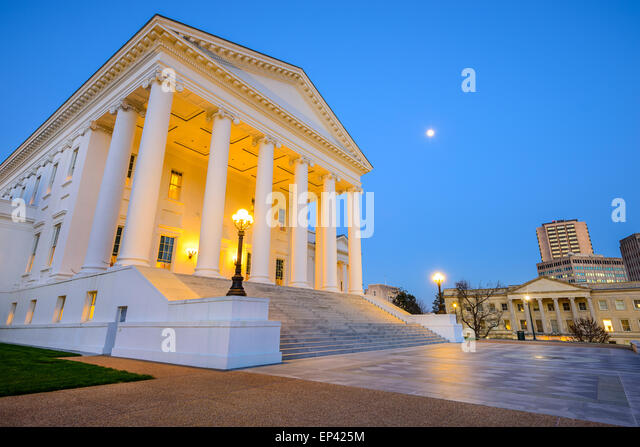 Richmond, Virginia, USA am Capitol. Stockbild