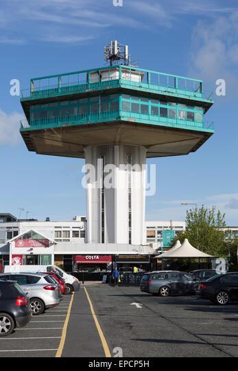 Der Pennine Turm, Teil der Lancaster Services eröffnet 1965, entworfen von den Architekten T.P. Bennett und Stockbild