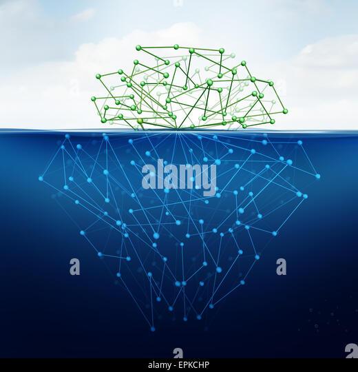 Deep Web und versteckte Internet-Technologie als digitale Zeitalter Thema Konzept als eine dunkle Website im Cyberspace Stockbild