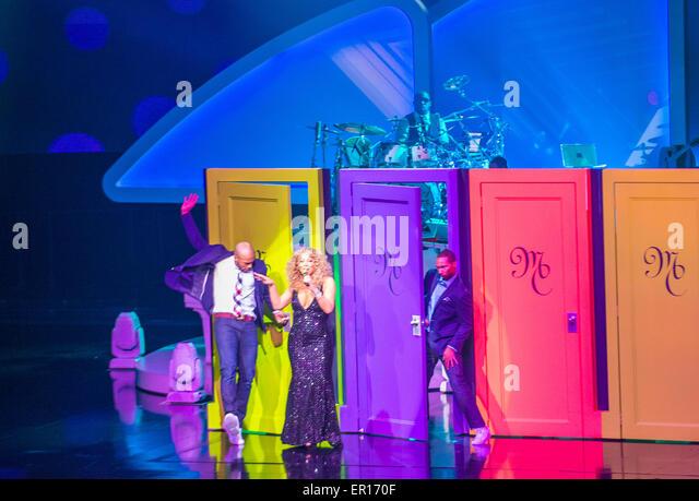 "Sängerin Mariah Carey führt beim Start ihrer Residency ""MARIAH 1 TO INFINITY"" im Caesars Palace Stockbild"