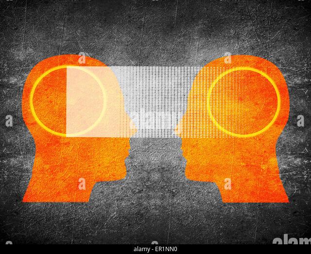Telepathie Konzept digitale illustration Stockbild