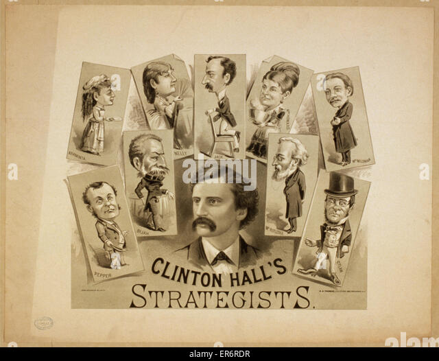 Clinton Hall Strategen. Datum c1879. Stockbild