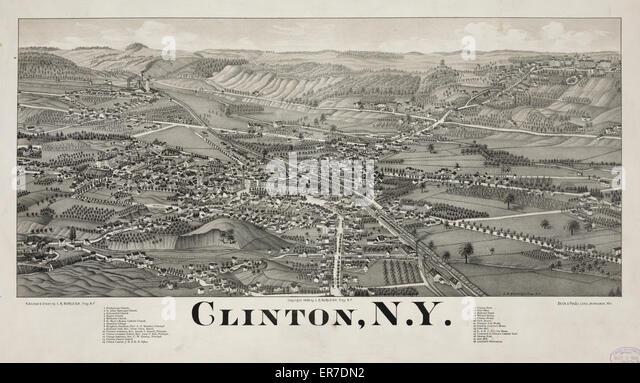 Clinton, N.Y.-Datum-c1885 Mai 5.. Stockbild